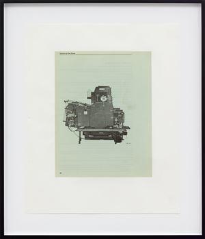 Untitled (Heidelberg Single-ColorOffset Press, page 30) by Mathias Poledna contemporary artwork