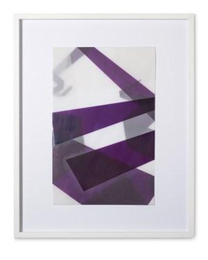 Faltungen Lila by Beat Zoderer contemporary artwork