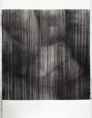 untitled charcoal V (inside out) by Sam Harrison contemporary artwork