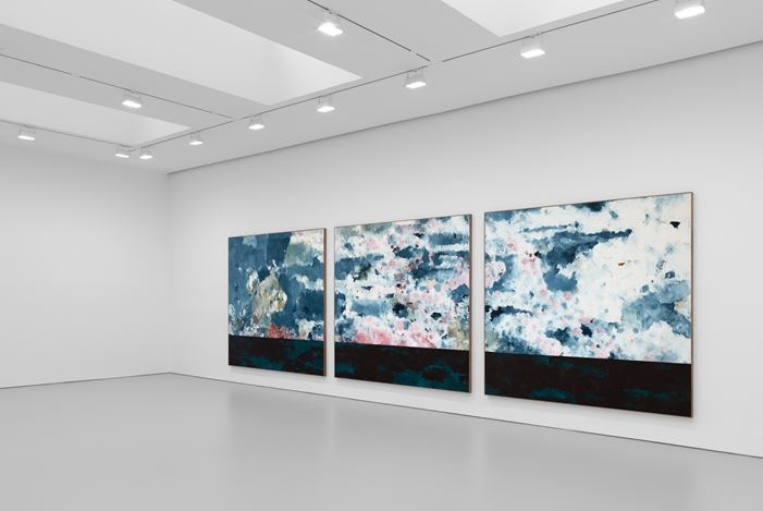 Exhibition view: Harold Ancart, Traveling Light, David Zwirner, 525 & 533 West 19th Street, New York (10 September–17 October 2020). Courtesy David Zwirner.