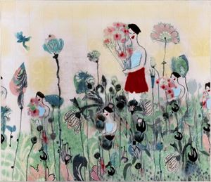 Çiçek ve Kız by Azade Köker contemporary artwork