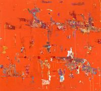 Hunting the red by Reza Derakshani contemporary artwork painting, works on paper