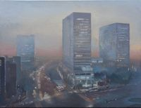Dusk 黃昏 by Lu Liang contemporary artwork painting