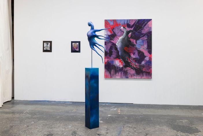 Exhibition view: Bettina Scholz,Studio Views, SETAREH (10–24 June 2021). Courtesy SETAREH.