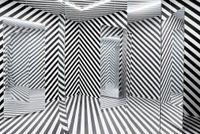 Espace à pénétrer avec trame (Variation du labyrinthe de 1963) by Julio Le Parc contemporary artwork sculpture