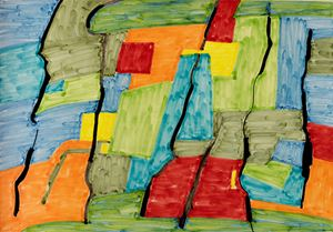 Le temps passe by Etel Adnan contemporary artwork