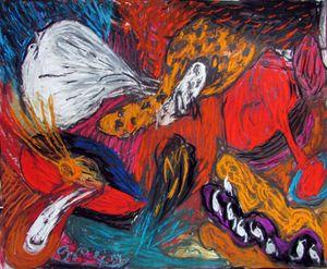 White Star (Cosmic Poetry Series) by Kaung Su contemporary artwork