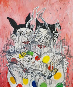 Big Bad Wolf by Vincent Leow contemporary artwork painting