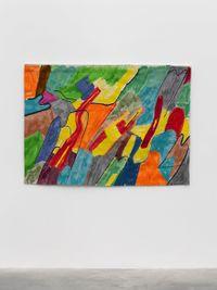 Autour des Lacs by Etel Adnan contemporary artwork textile
