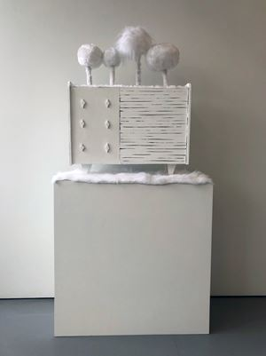 White Sideboard by Kathy Temin contemporary artwork