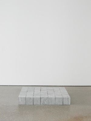 49 Belgica Blue Square by Carl Andre contemporary artwork