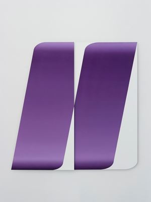 Overlapped/Dual Series(Purple) by Chen Wenji contemporary artwork