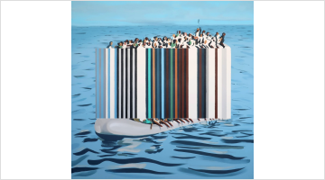 Contemporary art exhibition, Darren Coffield, Against the Tide at Dellasposa Gallery, London