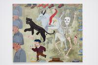 El Paro / The Strike by Cecilia Vicuña contemporary artwork painting