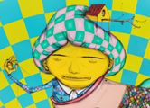 On the lake inside the ocean by OSGEMEOS contemporary artwork 2