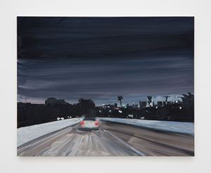 Highway night (colour) by Jean-Philippe Delhomme contemporary artwork