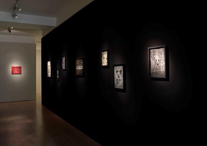 Exhibition view: Group Exhibition, Writings on the Wall, Waddington Custot, London (17 May–8 August 2019). Courtesy Waddington Custot.