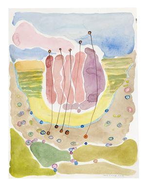 Landskap och trådar by Carin Ellberg contemporary artwork