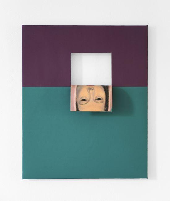 Doubleface (Quadricone Magenta/Earth Green) by Valeska Soares contemporary artwork