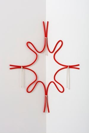 Corner Form with Rope (Pulled Star) by Ricky Swallow contemporary artwork