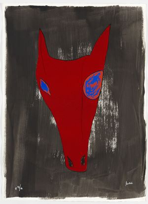 Red, Blew by Jimmie Durham contemporary artwork