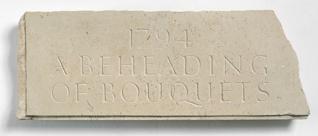 1794: A Beheading of Bouquets by Ian Hamilton Finlay contemporary artwork
