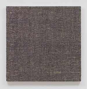Woven Solid as Weft, Square (Black) #1 by Analia Saban contemporary artwork