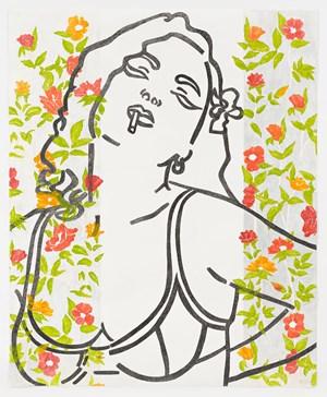 El Amor de la Rosa Roja by Reza Farkhondeh & Ghada Amer contemporary artwork