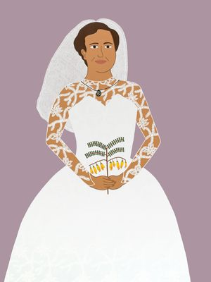 Nana on her wedding day by Ayesha Green contemporary artwork