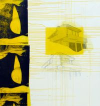 Silver Lake Yellow Boob by Julião Sarmento contemporary artwork painting
