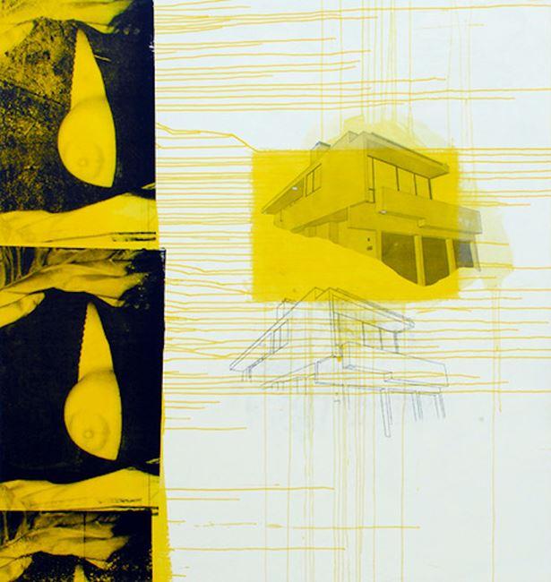 Silver Lake Yellow Boob by Julião Sarmento contemporary artwork