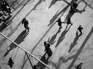 Children and Shadows in Park by André Kertész contemporary artwork