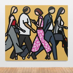 Walking in Melbourne. 2. by Julian Opie contemporary artwork