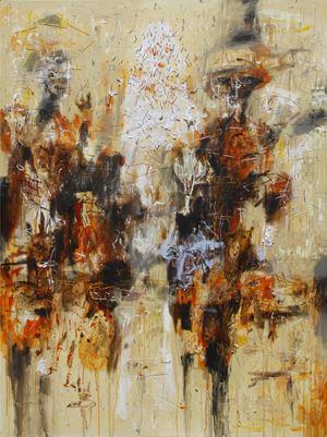 Putih Diantara Hitam/White Between Black by Gatot Pujiarto contemporary artwork
