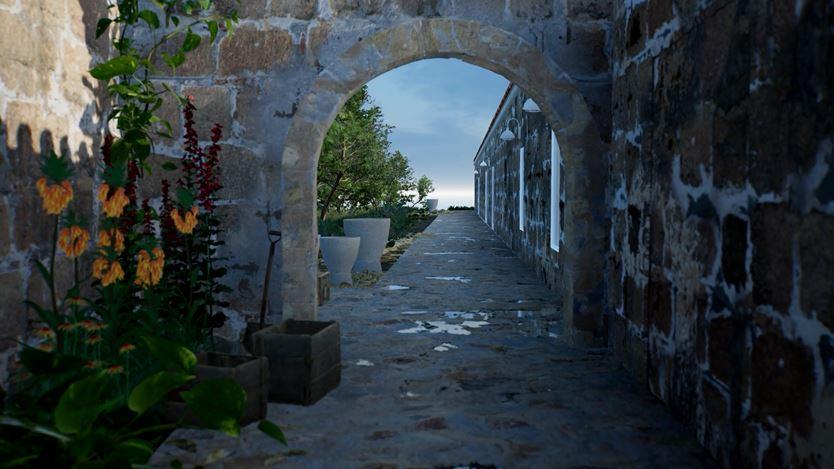 ArtLab, Hauser & Wirth Menorca exterior view created in HWVR. Courtesy Hauser & Wirth.