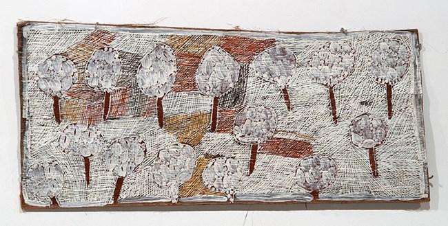 Fallen Leaves #3 by Nyapanyapa Yunupiŋu contemporary artwork