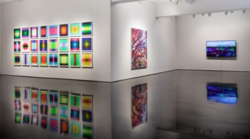 Contemporary art exhibition, Tim Maguire, Dice Abstracts at Tolarno Galleries, Melbourne