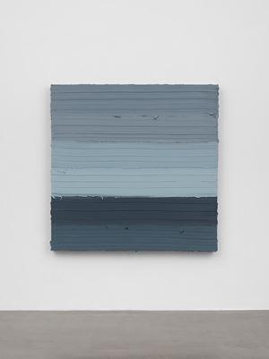 Untitled (Titanium White/Prussian Blue) by Jason Martin contemporary artwork