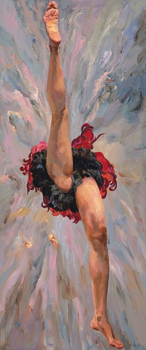 Leaping《飞跃》 by Yu Hong contemporary artwork