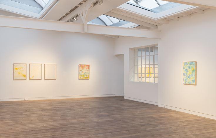 Exhibition view: Pier Paolo Calzolari, Muitos estudos para uma casa de limão, Beck & Eggeling International Fine Art, Düsseldorf (17 January–29 February). Courtesy Beck & Eggeling International Fine Art.
