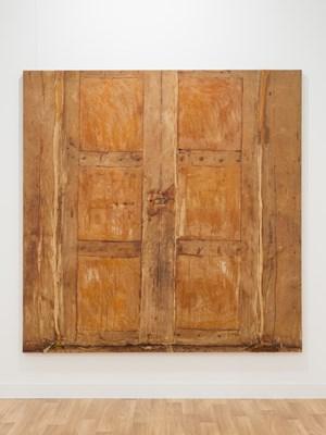 Puerta beige grande (Large beige door) by Heidi Bucher contemporary artwork