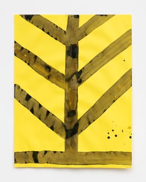 Tree by Chris Martin contemporary artwork painting, works on paper