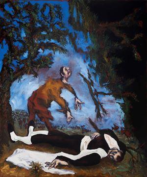 L' autre et le toréador by Gérard Garouste contemporary artwork