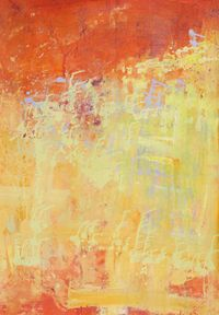 Purple building on sun rise by Yi Kai contemporary artwork painting