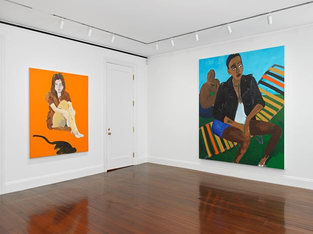 Exhibition view: Henry Taylor, NIECE COUSIN KIN LOOK HOW LONG IT'S BEEN, Blum & Poe, New York (24 September–21 December 2019). © Henry Taylor. Courtesy the artist and Blum & Poe, Los Angeles/New York/Tokyo. Photo: Genevieve Hanson.