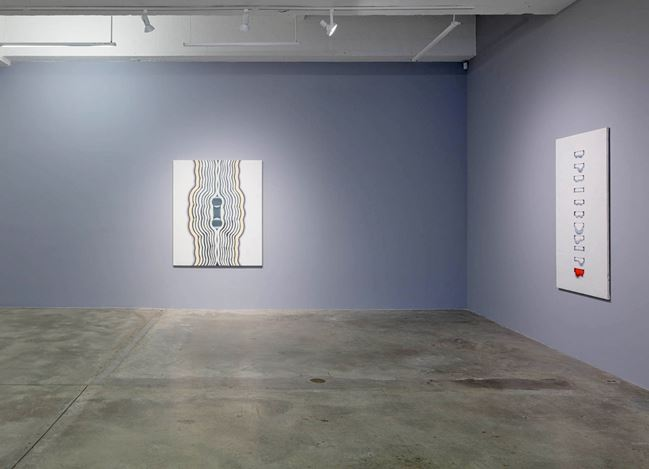 Exhibition view: Kim Tschang-Yeul, New York to Paris, Tina Kim Gallery, New York (24 October 2019–25 January 2020). Courtesy Tina Kim Gallery.