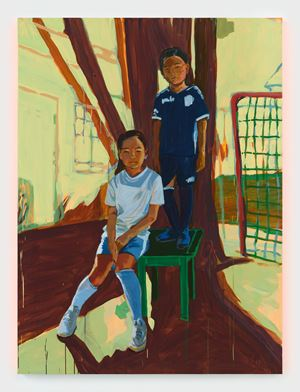 Tegyu and Terrin in the Garden by Claire Tabouret contemporary artwork