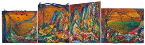 Blue-green Mountains 青綠江山 by Yin Zhaoyang contemporary artwork