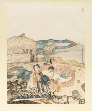 The gathering point by Yun-Fei Ji contemporary artwork