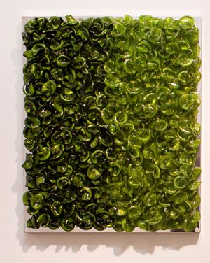 Green on Green (Dark) by Dani Marti contemporary artwork